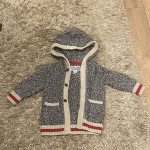 Roots cabin knit sweater 6-12M